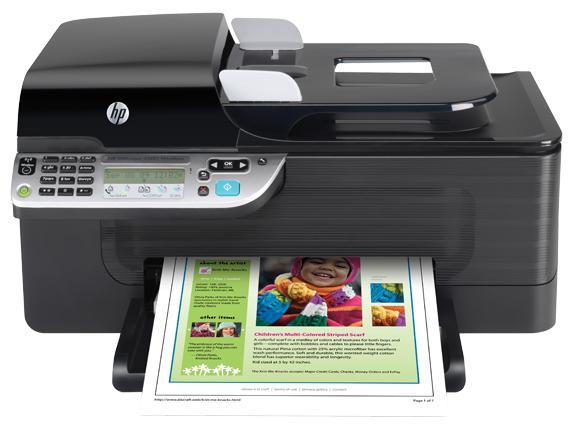 HP Officejet 4500 Wireless All-in-One Printer - G510n - Center