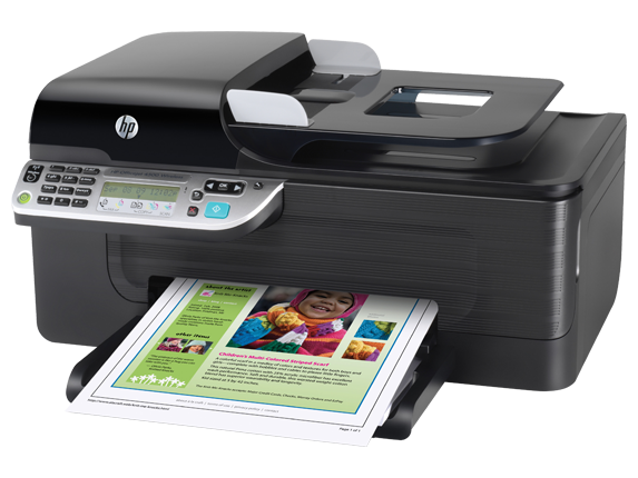 HP Officejet 4500 Wireless All-in-One Printer - G510n - Left