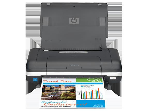HP Officejet H470wbt Mobile Printer - Center