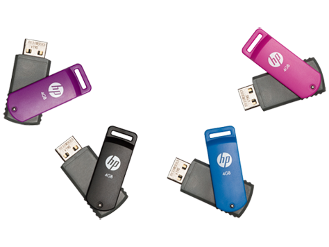 Unidade flash HP v190w USB
