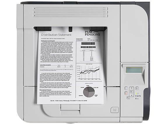 HP LaserJet Enterprise P3015d Printer - Top view closed