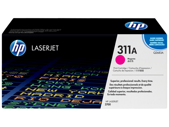 HP 311A Magenta Original LaserJet Toner Cartridge, Q2683A - Center