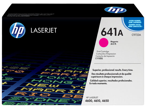 HP 641A Magenta Original LaserJet Toner Cartridge, C9723A - Center