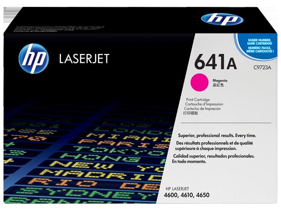 HP 641A Magenta Original LaserJet Toner Cartridge, C9723A