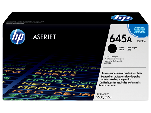 HP 645A Black Original LaserJet Toner Cartridge, C9730A