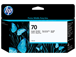 HP 70 130-ml Photo Black DesignJet Ink Cartridge
