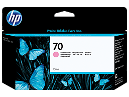 HP 70 130-ml Light Magenta DesignJet Ink Cartridge