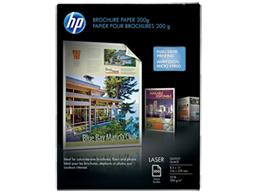 HP Laser Glossy Brochure Paper 200 gsm-100 sht/Letter/8.5 x 11 in