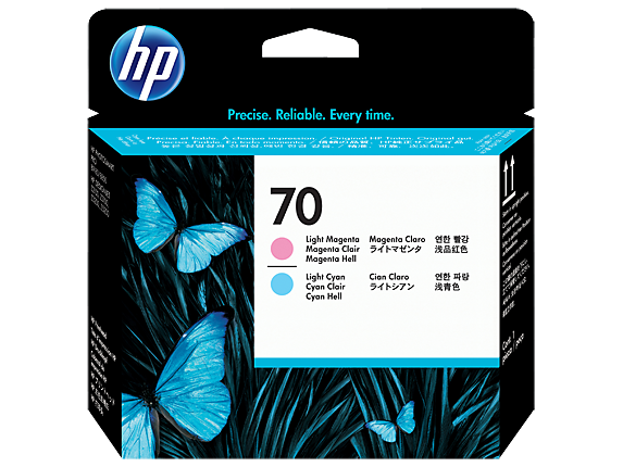 HP 70 Light Magenta and Light Cyan DesignJet Printhead