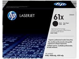 HP 61X High Yield Black Original LaserJet Toner Cartridge, C8061X