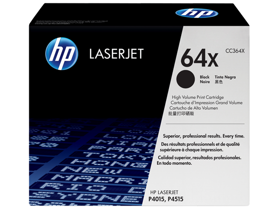 HP 64X High Yield Black Original LaserJet Toner Cartridge, CC364X