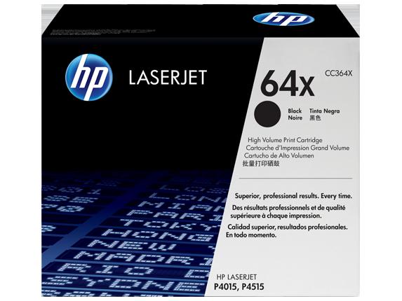 HP 64X High Yield Black Original LaserJet Toner Cartridge, CC364X - Center