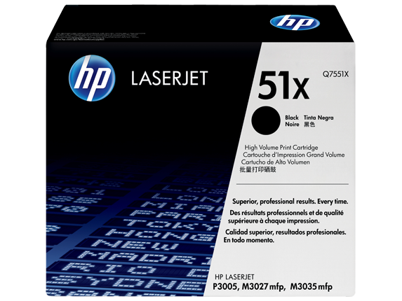 HP 51X High Yield Black Original LaserJet Toner Cartridge, Q7551X