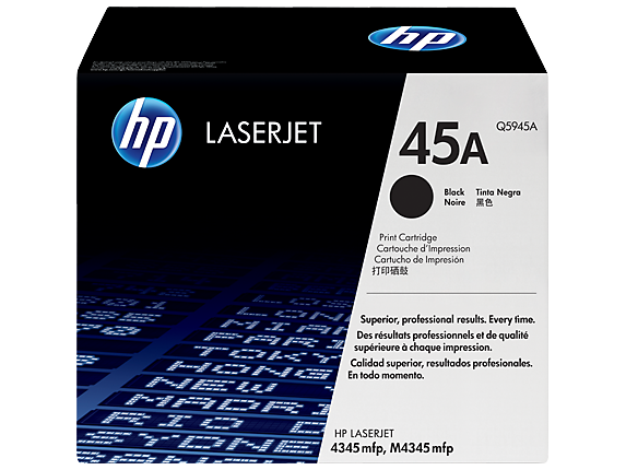 HP 45A Black Original LaserJet Toner Cartridge, Q5945A