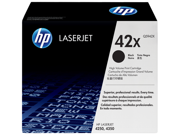 HP 42X High Yield Black Original LaserJet Toner Cartridge, Q5942X
