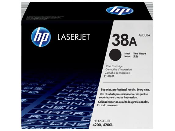 HP 38A Black Original LaserJet Toner Cartridge, Q1338A - Center