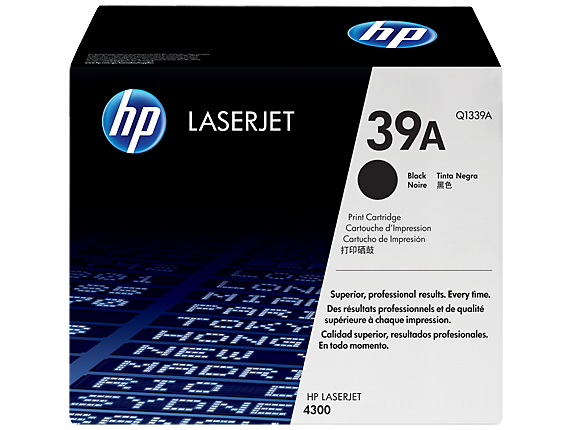 HP 39A Black Original LaserJet Toner Cartridge, Q1339A