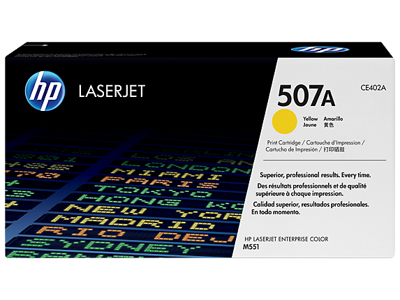 HP 507A Yellow Original LaserJet Toner Cartridge, CE402A