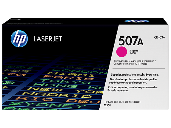 HP 507A Magenta Original LaserJet Toner Cartridge, CE403A