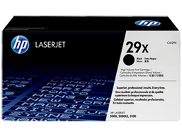 HP 29X High Yield Black Original LaserJet Toner Cartridge, C4129X