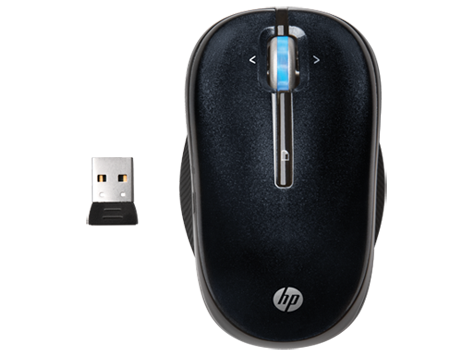 HP 2.4GHz Wireless Optical (Black) Mobile Mouse