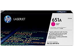 HP 651A Magenta Original LaserJet Toner Cartridge, CE343A