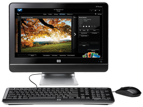 HP Pavilion All-in-One MS210 desktop pc-serien