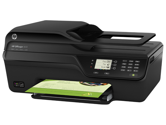 HP Officejet 4610 All-in-One Printer - Left