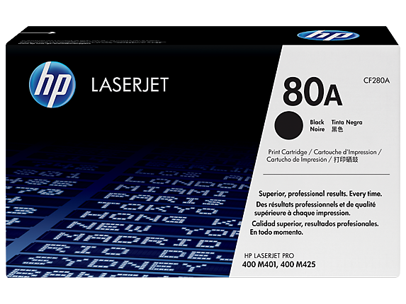 HP 80A Black Original LaserJet Toner Cartridge, CF280A