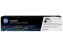 HP 126A 2-pack Black Original LaserJet Toner Cartridges, CE310AD