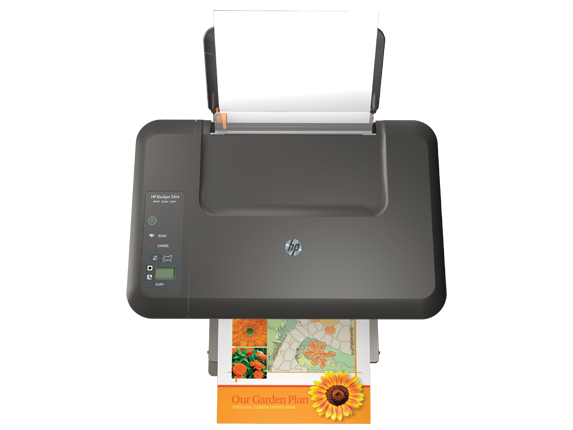HP Deskjet 2514 All-in-One Printer - Top view closed