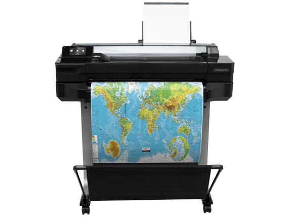 HP DesignJet T520 24-in Printer - Center