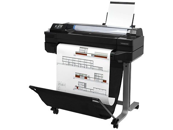 HP DesignJet T520 24-in Printer - Left