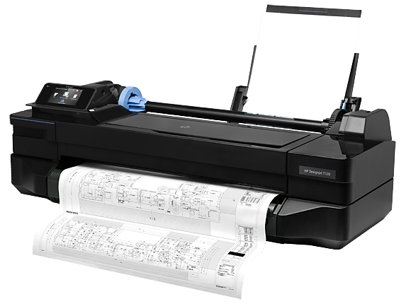 HP DesignJet T120 24-in Printer - Left