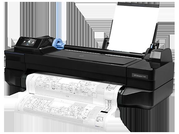 HP DesignJet T120 24-in Printer - Left