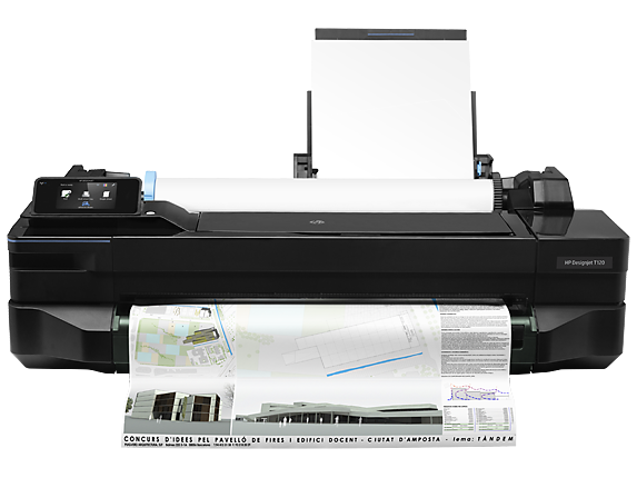 HP DesignJet T120 24-in Printer - Center