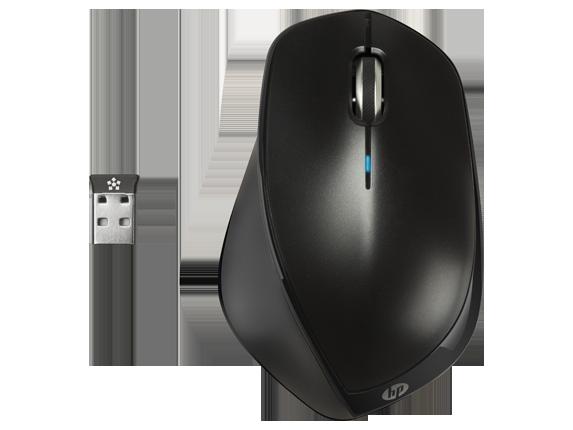 HP X4500 безжична (черна метална) мишка
