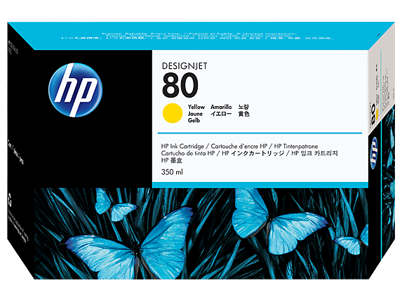 HP 80 350-ml Yellow DesignJet Ink Cartridge