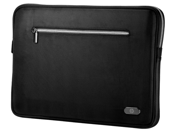 "HP 15.6-inch Standard Black Sleeve [Bewitching black, plush padding and faux-fur lining surround and cradle your 15.6"" Ultrabook™ in trendsetting luxury. It's the perfect accessory for every season and all occasions. Dress it up; dress it down. Take i..."