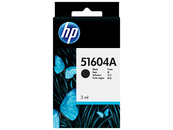 HP Black Plain Paper Print Cartridge - Center