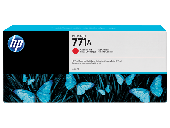 HP 771A 775-ml Chromatic Red DesignJet Ink Cartridge