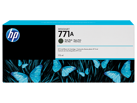 HP 771A 775-ml Matte Black DesignJet Ink Cartridge - Center