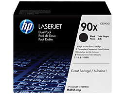 HP 90X 2-pack High Yield Black Original LaserJet Toner Cartridges, CE390XD