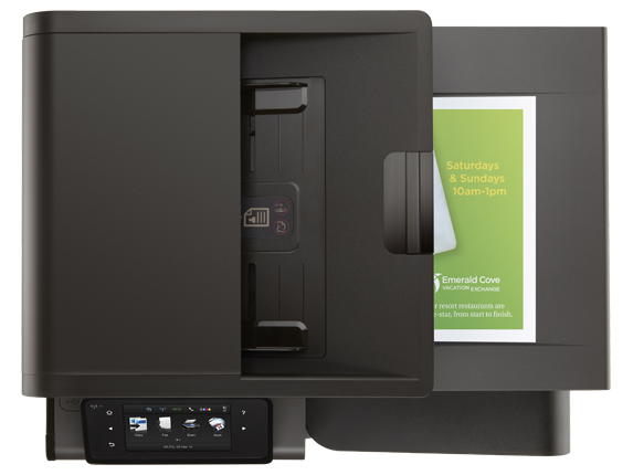 HP Officejet Pro X576dw Multifunction Printer - Top view closed