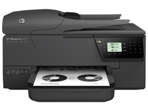 HP Officejet Pro 3620 sort/hvid e-All-in-One-printerserien