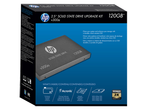 HP v300a 120GB SATA Solid State Drive with Upgrade Kit