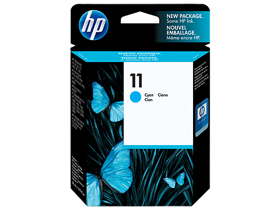 HP 11 Cyan Original Ink Cartridge - Center