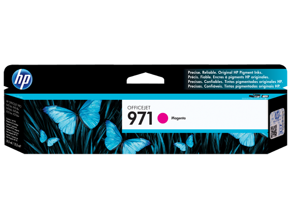 HP 971 Magenta Original Ink Cartridge - Center