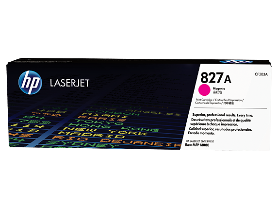 HP 827A Magenta Original LaserJet Toner Cartridge, CF303A