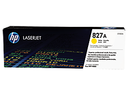 HP 827A Yellow Original LaserJet Toner Cartridge, CF302A